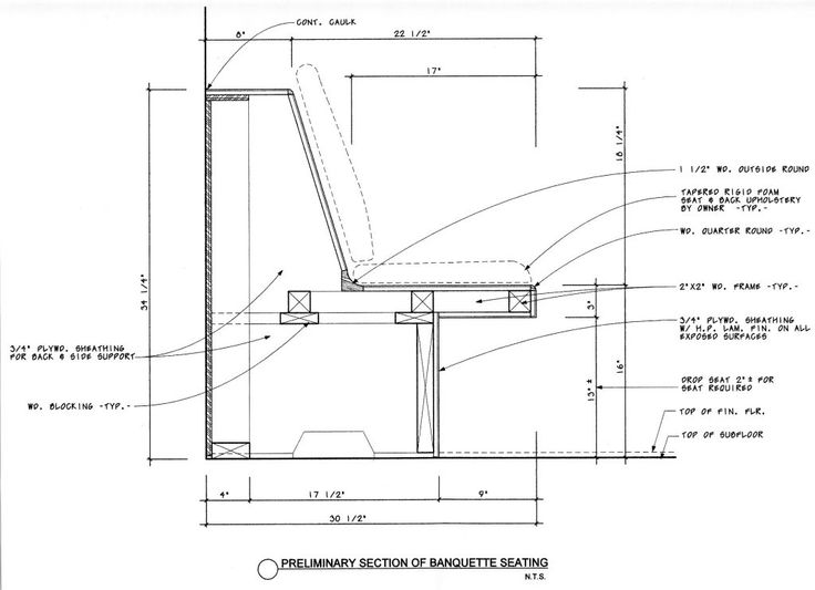 Diy banquette plans art drawing pinterest for Plan banquette cuisine
