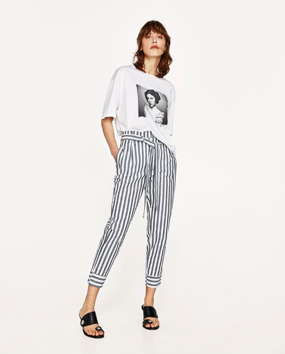 ZARA - WOMAN - CHAMBRAY TROUSERS