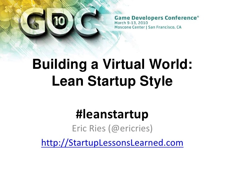 Lean Start-Up Presentation - Good Plan Slide!!
