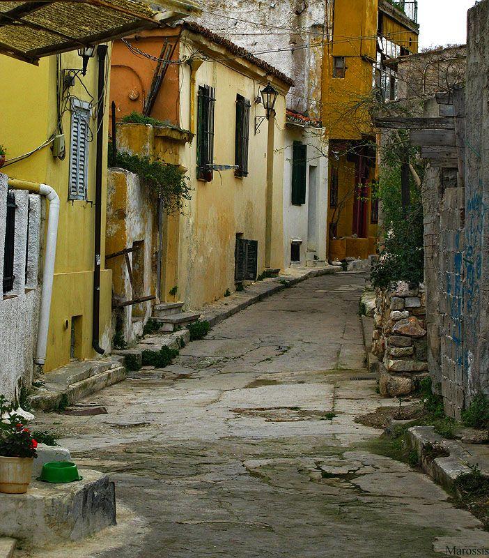 Anafiotika, Athens, Greece #cruiseinchatreuse