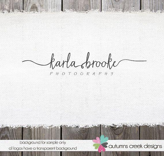 Photography Logo - Premade Logo Swirly Text Logo for photographer