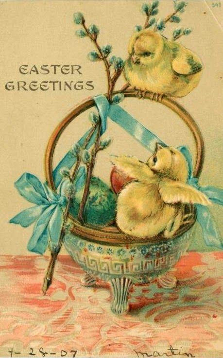 Розы, старинные пасхальные открытки великобритании