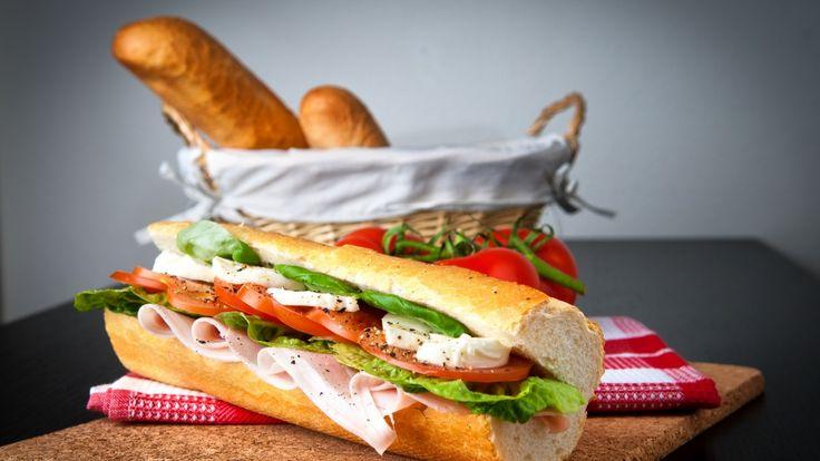 панини, ветчина, сыр, салат, хлеб, корзина, panini, ham, cheese, salad, bread baske