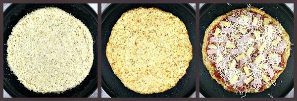 Cauliflower pizza crust: healthy, low calorie, and low carb.Tasty Recipe, Cauliflowers Crusts, Califlower Crusts Pizza, Cauliflowers Pizza Crusts, Califlower Recipe Healthy, Pizza Crusts Califlower, Gluten Free, Recipe Califlower, Califlower Pizza Crusts