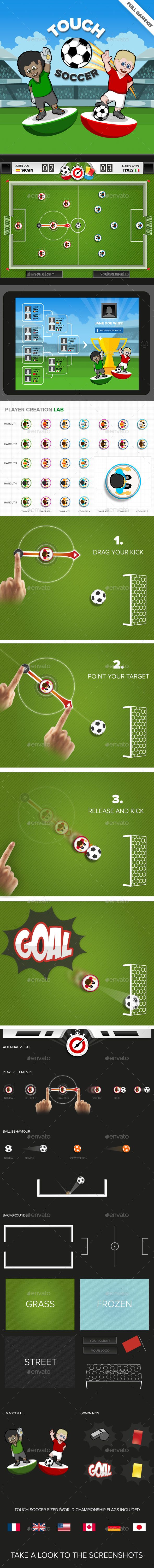Touch Soccer Game Kit Download here: https://graphicriver.net/item/touch-soccer-game-kit/9034370?ref=KlitVogli
