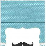 Cartão Agradecimento de Mesa Chá de Bebê Mustache