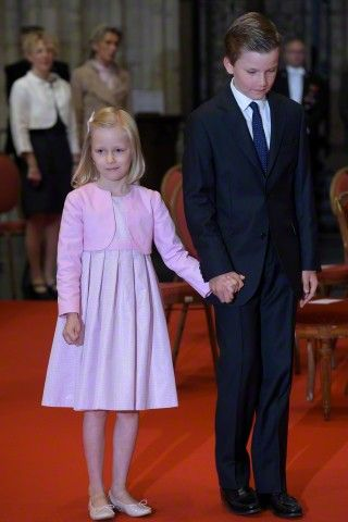 Princess Éléonore attends the Te Deum for National Day in Cathédrale des Saints Michel Brussels on July 21, 2015