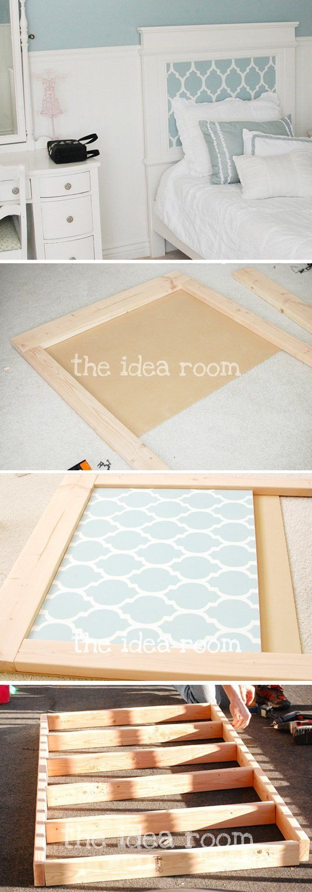 Simple DIY Wooden Headboard Tutorial | https://diyprojects.com/diy-headboards-for-every-home/