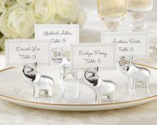 """Lucky in Love"" Silver-Finish Lucky Elephant Place Card/Photo Holder @ weddingfavoursaustralia.com.au"