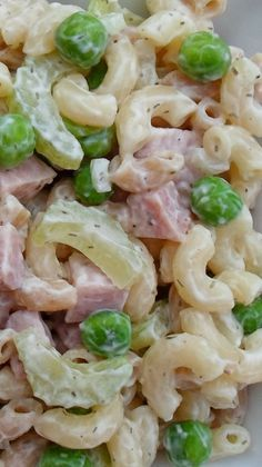 Macaroni Salad with Ham, Peas and Dill