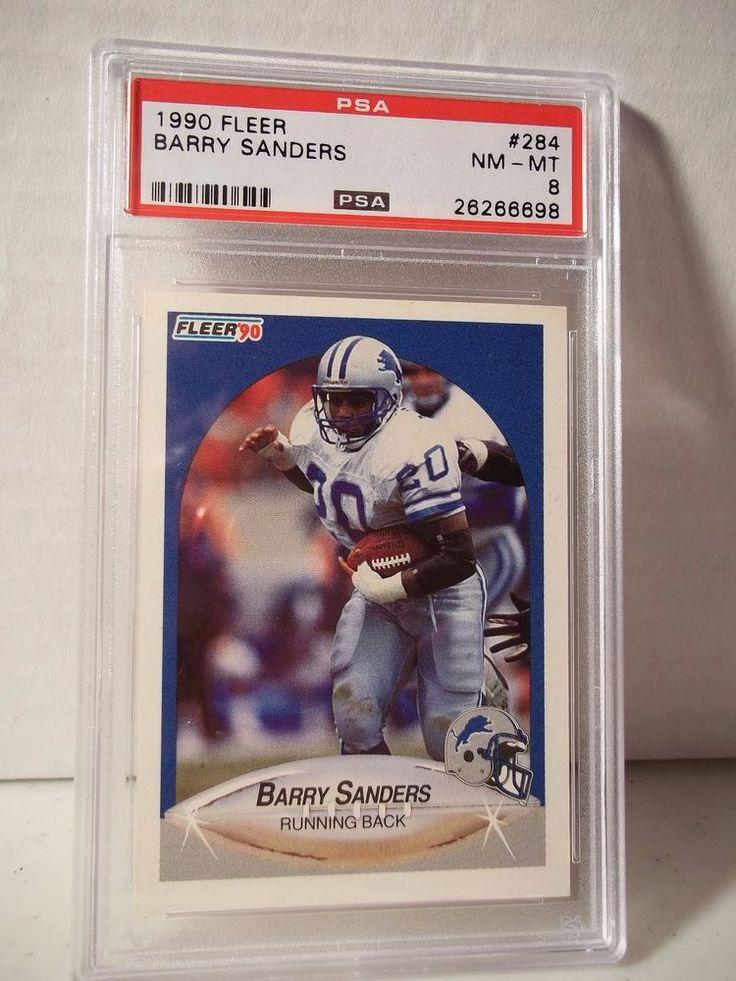 1990 fleer barry sanders psa nmmt 8 football card 284