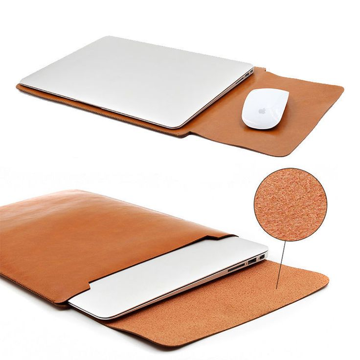 PU Leather Laptop Sleeve Bag Case Cover for MacBook Air 11 12 Pro 13 15 Retina…