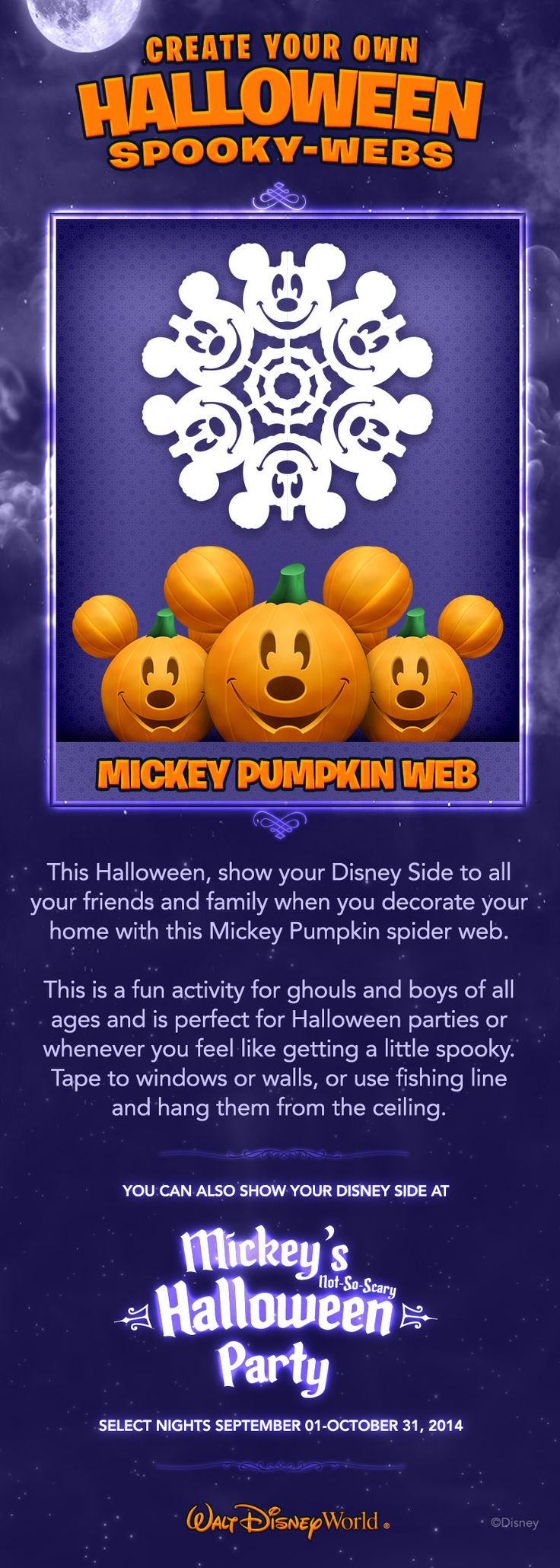 Create your own Halloween Spooky-Webs! #NotSoScary #waltdisneyworld