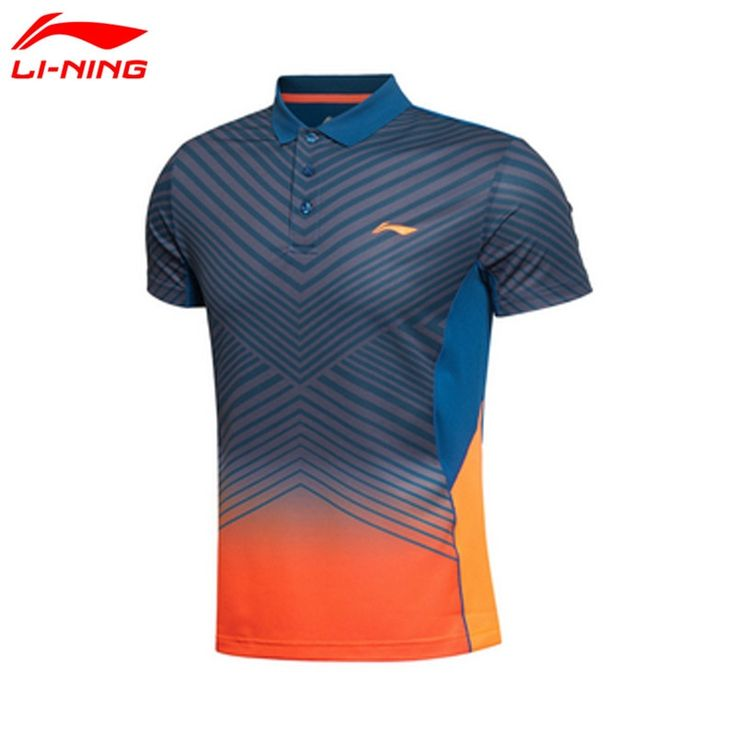 32.47$  Watch now  - Li-Ning Mens Badminton T-Shirts Quick Dry Lining Breathable Jersey Sports Athletic Shirt Li Ning Table Tennis Clothing AAYK299