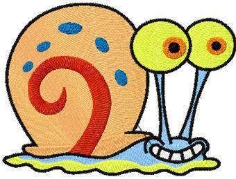 Gary snail machine embroidery design