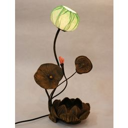 Paper Table Lamp with Lotus Flower Bud Shade