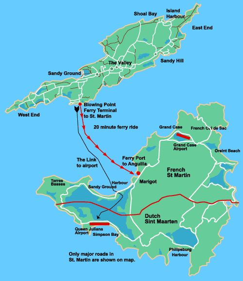 Maps Of Anguilla And Neighboring St Martin Interesting Maps Of - Caribbean anguilla map