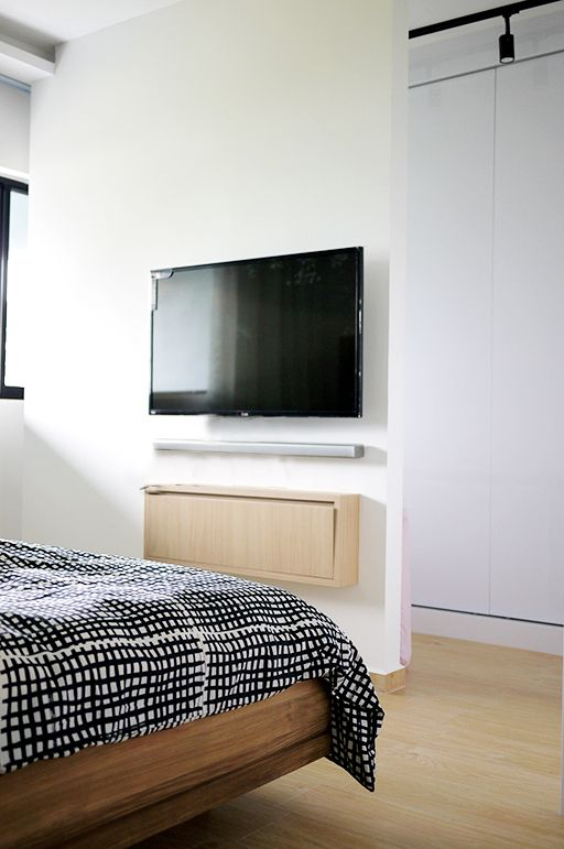Master bedroom tv console (You can read all about the HDB ...