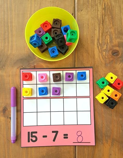 The ultimate spot for addition and subtraction to 20 activities for kids in Kindergarten and first grade. Tons of ideas and resources to teach children strategies for building math fact fluency, ways to solve word problems, and activities and games kids will love! A FREE printable addition equation sort activity is included! #teachingchildrenmathematics #mathhacks