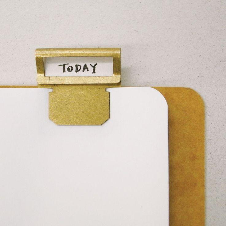 Papelería Midori latón de bronce de época de oro clip marcador clip de etiqueta en Clips de Office & School Supplies en AliExpress.com | Alibaba Group