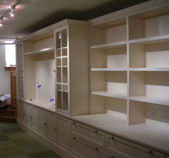 Custom White Lacquer Wall Unit. by Britannia Interiors | CustomMade.com