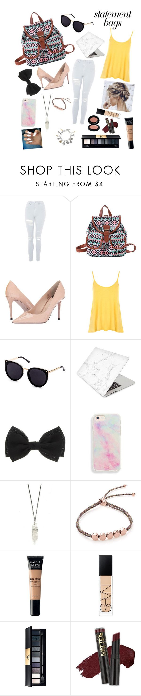 """""""Bag Centerpiece"""" by ggwaffle ❤ liked on Polyvore featuring Topshop, Paul Smith, WearAll, Recover, Monica Vinader, MAKE UP FOR EVER, NARS Cosmetics, John Lewis, L.A. Girl and statementbags"""
