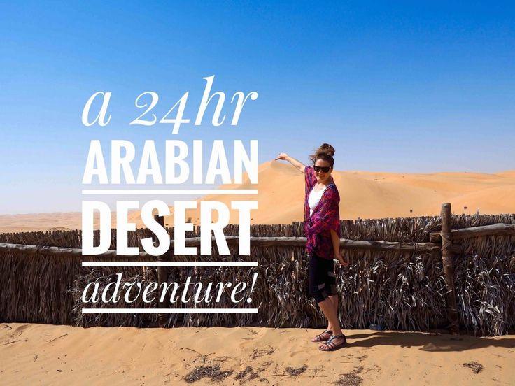 Venturing through a sandstorm to reach an arabian desert paradise amongst the dunes.