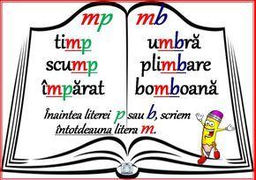 Scrierea corectă a unor cuvinte - mp, mb