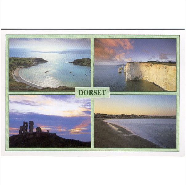 Dorset ~ tranquil, scenic 4 view ~ Lulworth, Weymouth, Swanage #postcard on #eBid United Kingdom