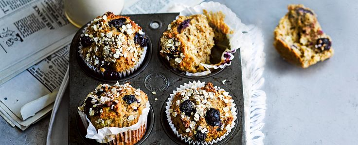 Banana and yogurt keep these muffins moist, while the butter, ground almonds and oats make them filling. No added sugar means you're getting the day off to a good start too.
