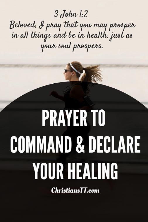 Prayer: Command and Declare Healing