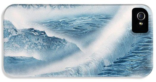 Waterfall From Heaven IPhone 5 / 5s Case Printed with Fine Art spray painting image Waterfall From Heaven by Nandor Molnar (When you visit the Shop, change the orientation, background color and image size as you wish)