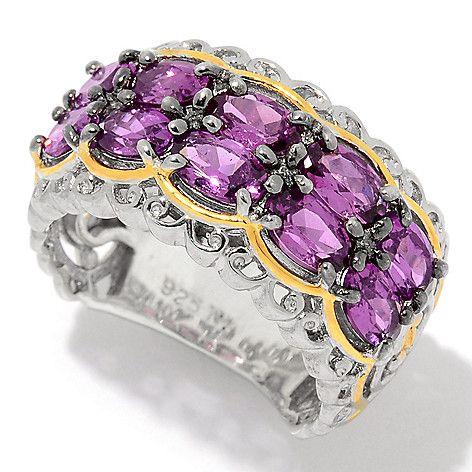159-141 - Gems en Vogue 2.70ctw Color Change Purple Garnet Band Ring