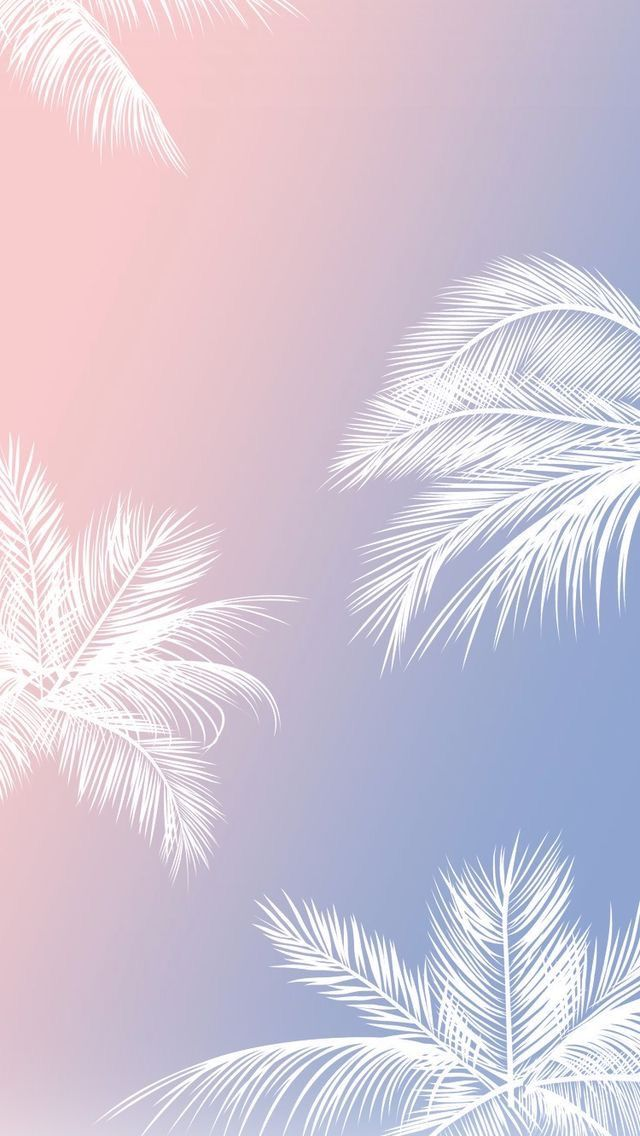 Pink and Blue with White palm trees, phone background -  Rose and Blue
