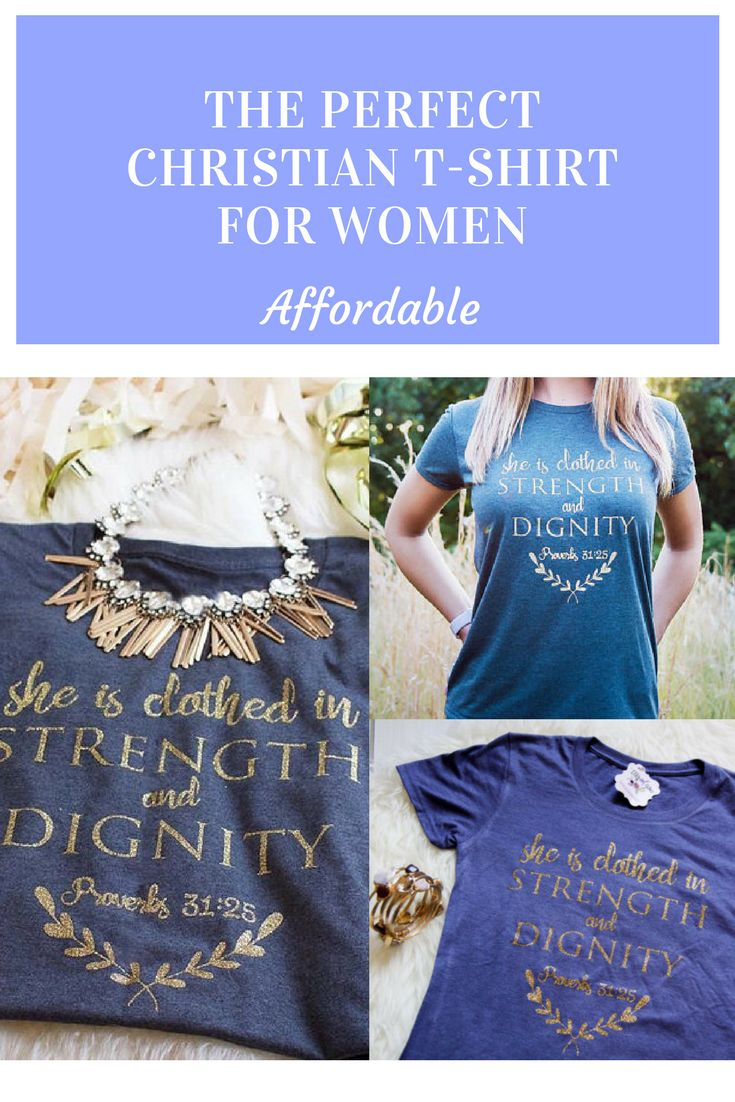 Looking for a good shirt to wear!? Christian T Shirts Women   Christian Shirts for women   Proverbs 31 Shirt   Faith Shirts for Women   She is Clothed in Strength and Dignity #christian #christianshirts #ad #designs #fashiondesigns #proverbs31 #tshirts