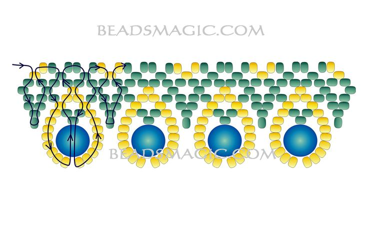 Free pattern for beaded necklace Love Me Tender | Beads Magic