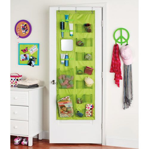 Zone So Over It Closet Door Organizer, Racy Pink Kids U0026 Teen Rooms
