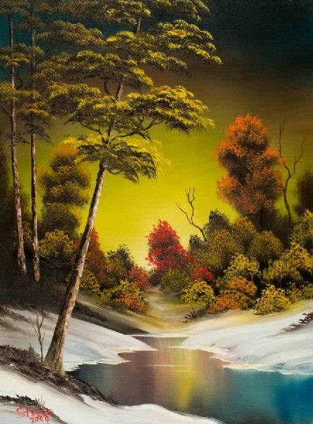 bob ross paintings for sale | Home > paintings > bob ross paintings > bob ross golden sunset