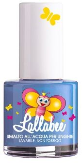 Lallabee is a brand of water-based nail enamels, nail stickers and tattoos, made in Italy, safe and non toxic, that can be washed with water and soap and not with solvents.   This is a beautiful glittery light blue ZUCCHERO.   www.facebook.com/Lallabee