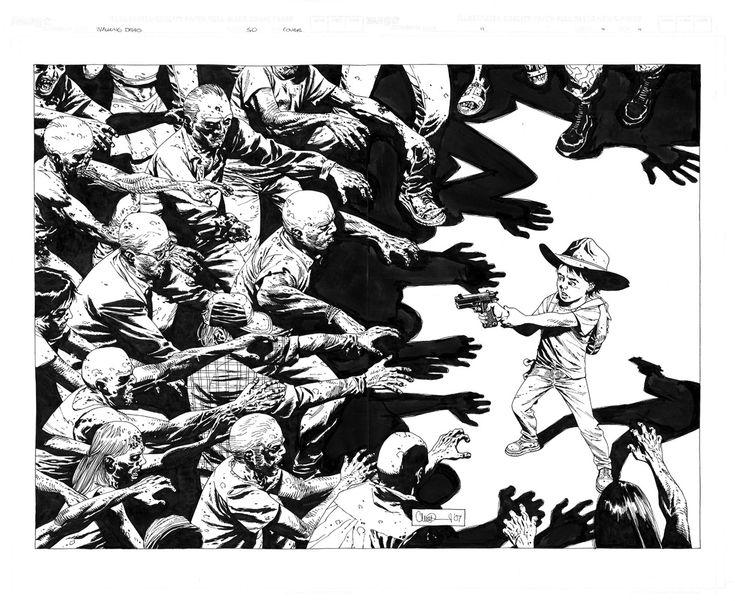The Walking Dead #50 COVER Comic Art charlie adlard