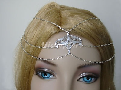 Silver Plate Eastern inspired Circlet/Head piece with Diamantes $35.95