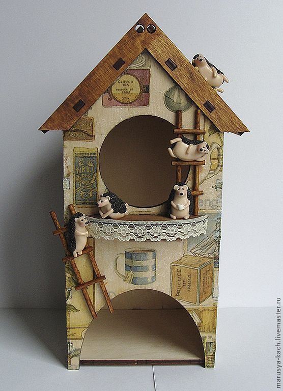 Чайный домик с ежиками