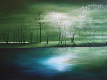 The Journey acrylic painting by Julia Underwood .