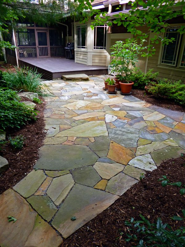Filler For Stone Patio : Best images about flagstone patios and paths on