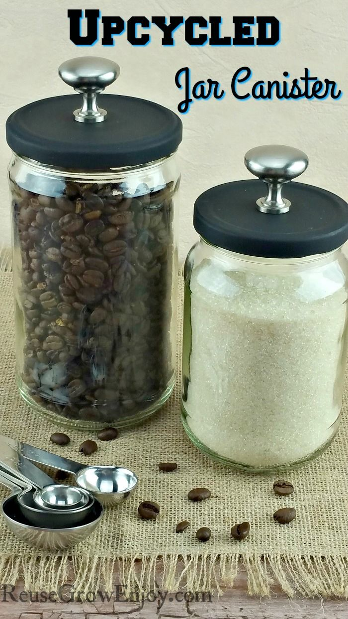 Did you know there are some wonderful ways that you can reuse them? Such as turning them into a upcycled jar canister. It is something you do not even hav