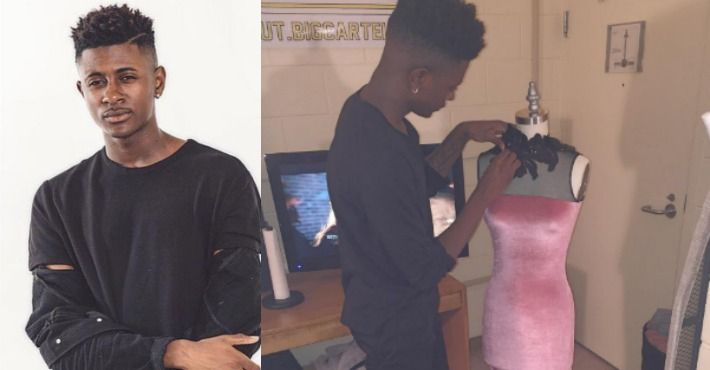 18-Year-Old Designer Created A Stunning Dress For His Prom Date And Became An Internet Hero.