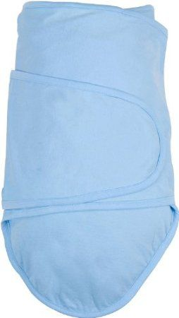 This blanket really is a miracle for the Houdini baby that needs to be swaddled.  We tried a number of swaddling blankets/solutions, but this one has been the best.  It pins down the baby's arms under their own weight.  Awesome.  Amazon.com: Miracle Blanket - Baby Swaddling Blanket - Blue: Baby