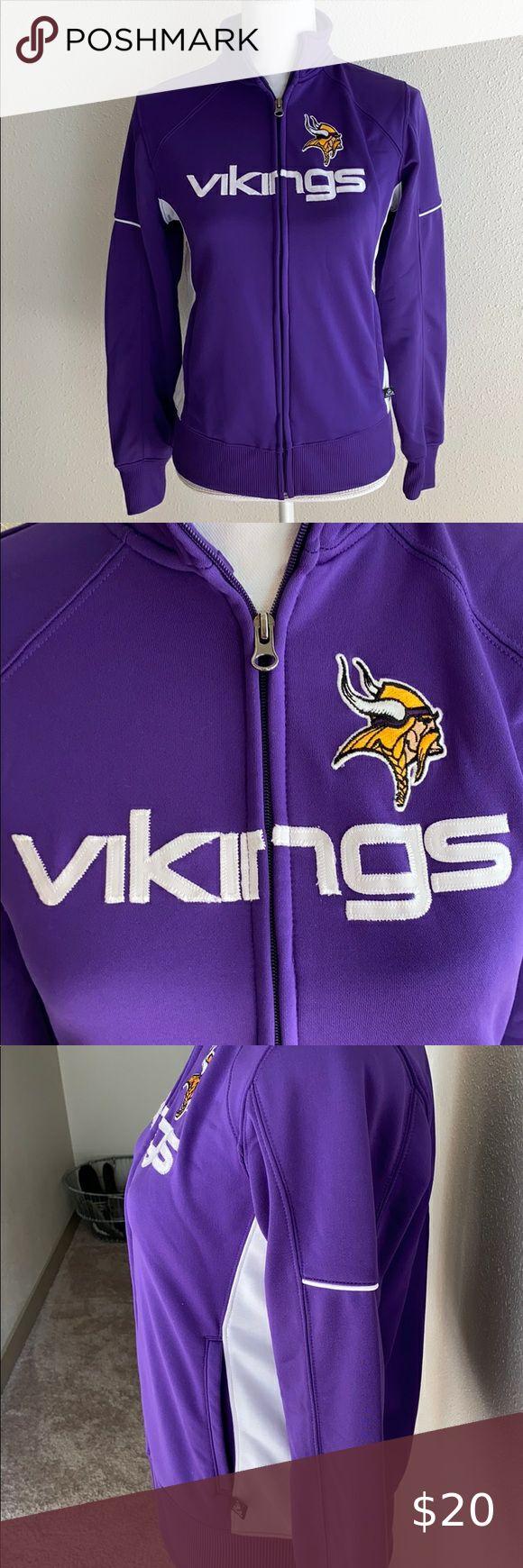 Nfl Team Apparel Minnesota Vikings Zip Up Jacket In 2020 Team Apparel Nfl Team Apparel Jackets [ 1740 x 580 Pixel ]