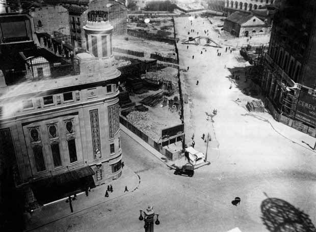 Callao en obras. (Madrid, principios S.XX)