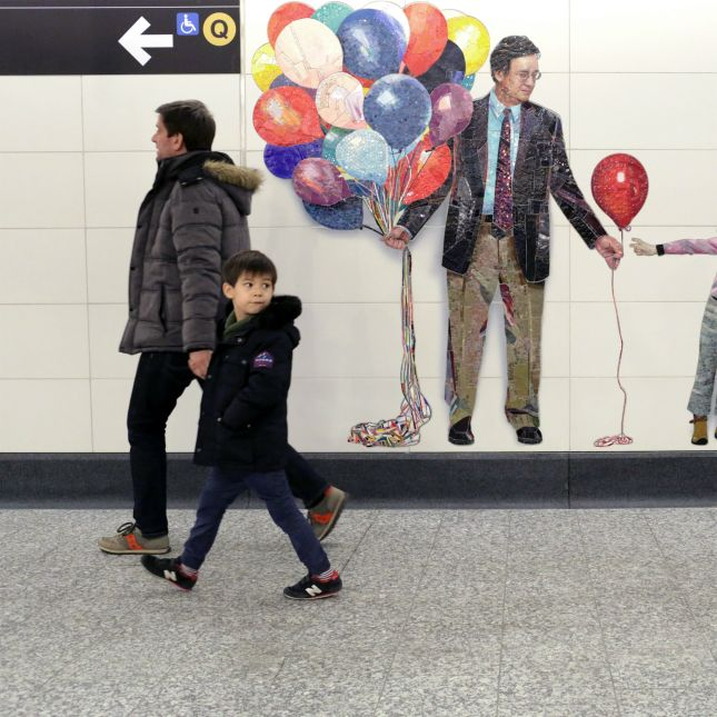 New York's 2nd Ave Subway Art Will Change How You Look at Strangers | Brit + Co